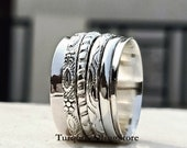 Most Popular Spinner Ring, Thumb Ring, Anxiety Ring, 925 Sterling Silver Ring, Multi Spins Ring, Fidget Ring, Women Ring, Promise Ring