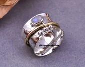 Moonstone Ring, Thumb Ring, Handmade Ring, Anxiety Ring, 925 Silver Ring, Silver Spinner Ring, Bohemian Ring, Anniversary Ring, Fidget Ring