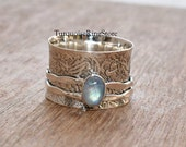 Moonstone Ring, Spinner Ring, Anxiety Ring, Boho Ring, Handmade Ring, Fidget Ring, Promise Ring, Meditation Ring, Women Ring, Gift For Her