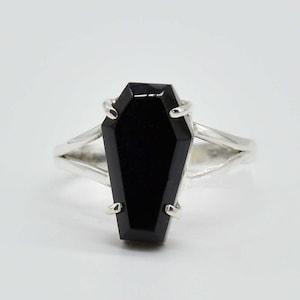 Gift For Her Coffin Rings Labradorite Ring Handmade Ring Women Gift Ring Valentine Day Gift Gemstone Ring Gypsy Ring Boho Ring