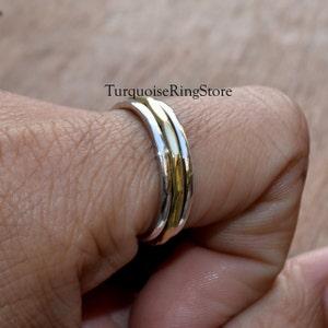Anxiety Ring Promise Ring Women Ring 925 Silver Ring Thumb Ring Boho Ring Spinner Ring Gift Ring Fidget Ring Worry Ring Gypsy Ring