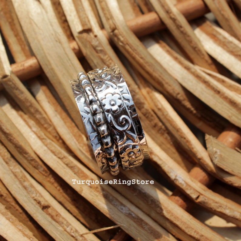 Thumb Ring Anxiety Ring Worry Ring Gift For Her Women Ring Spinner Ring 925 Silver Ring Promise Ring Meditation Ring Fidget Ring