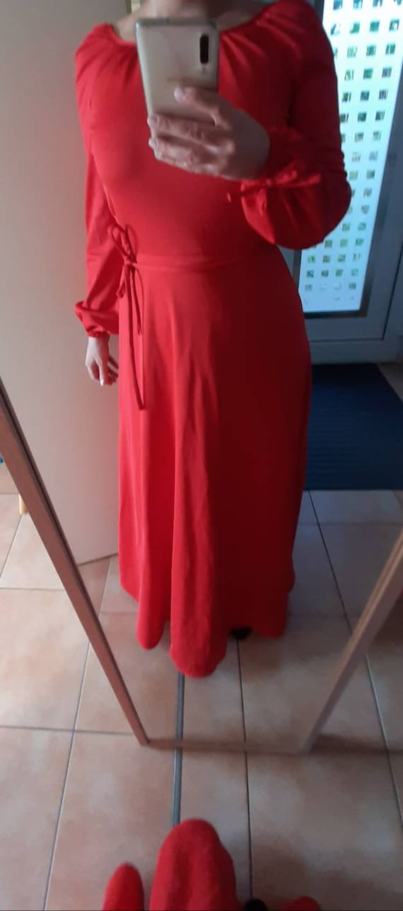 Beautiful Vintage Red Betty Barclay dress Size S