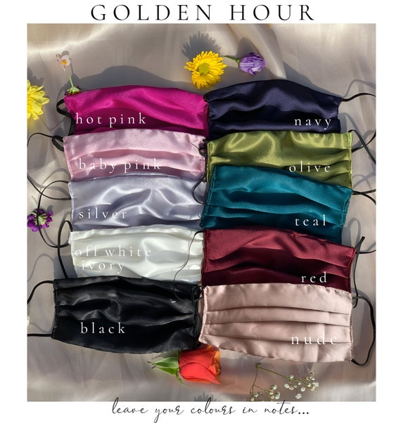 GOLDEN X HOUR | Satin Pleat Face Masks