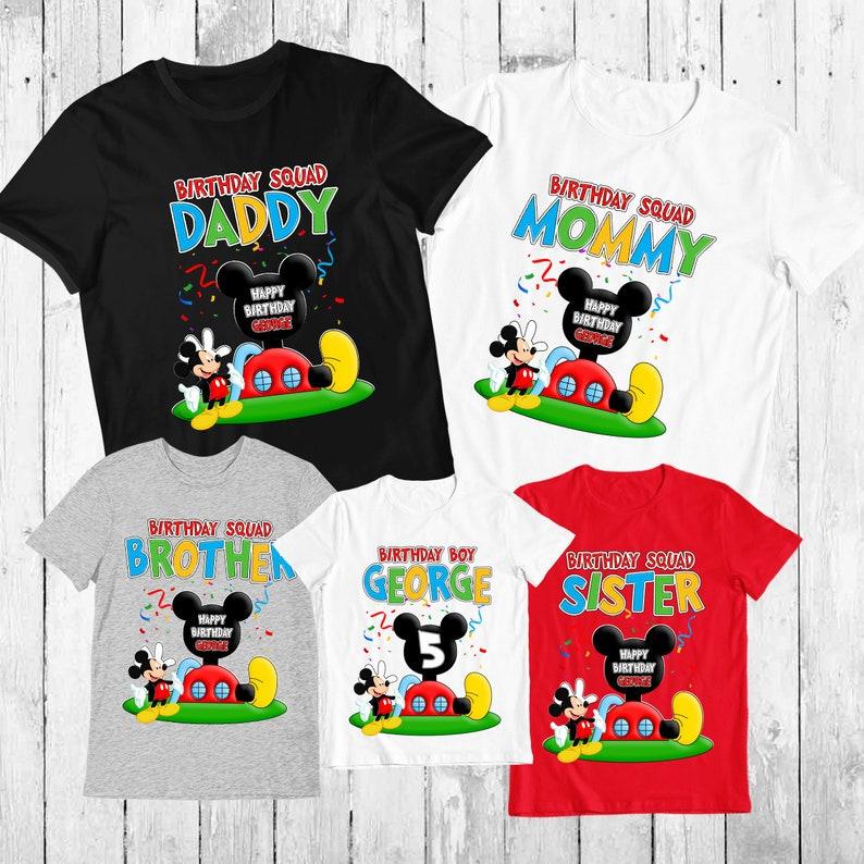 Disney Mickey Mouse Clubhouse Family Birthday Shirts Mickey Etsy