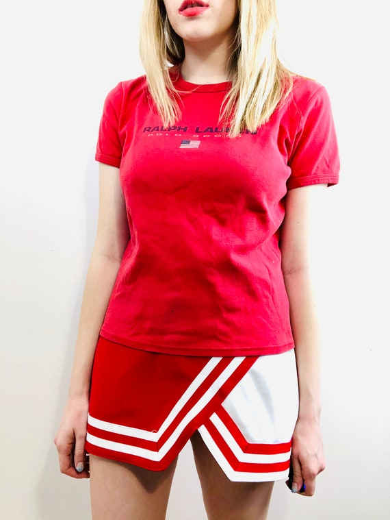 Vintage 1990's Polo Sport Red T Shirt - image 4