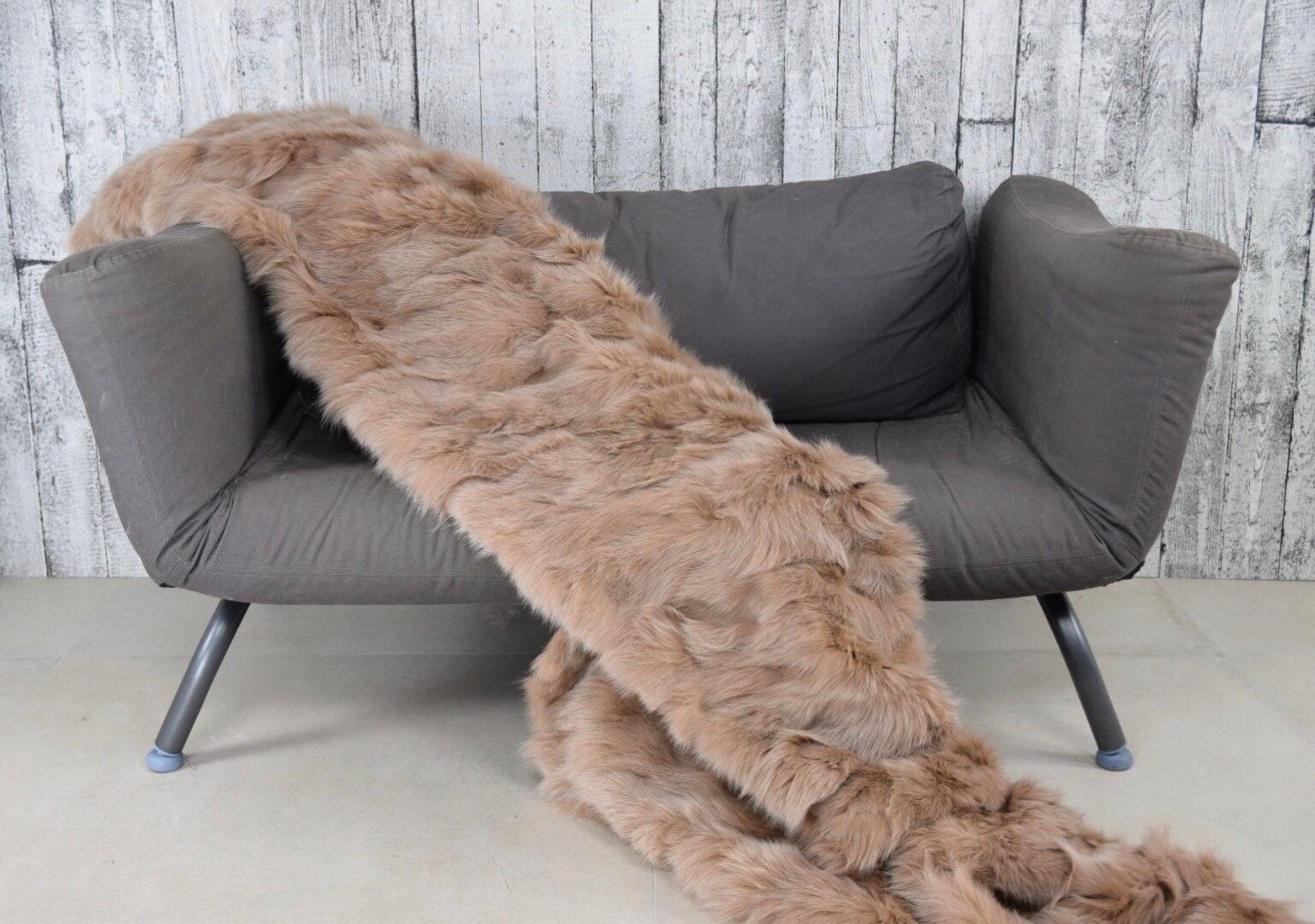Jet de couverture de fourrure de renard de luxe