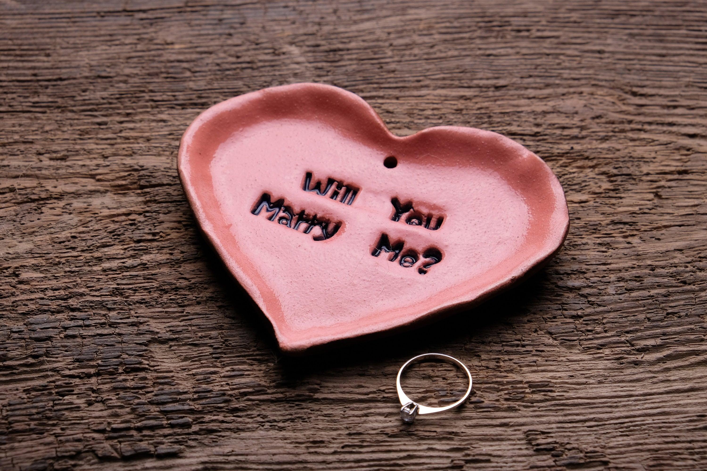Werden Sie heiraten Mich Hochzeit Vorschlag Schale Keramik