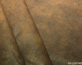 Chestnut Brown lamb leather Nappa Skins Hides Crafts Trimmings 9 sqft