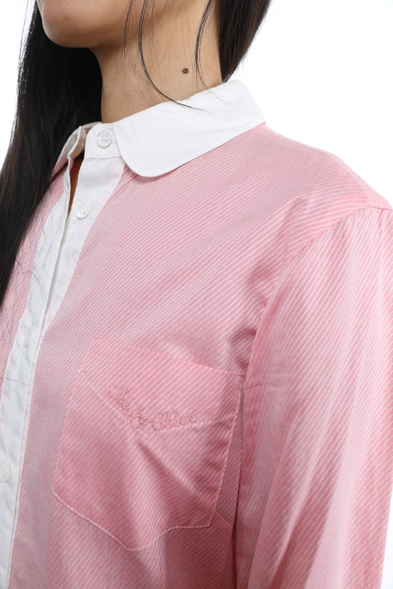 See By Chloe Cotton Shirtdress - Size 8 - image 6