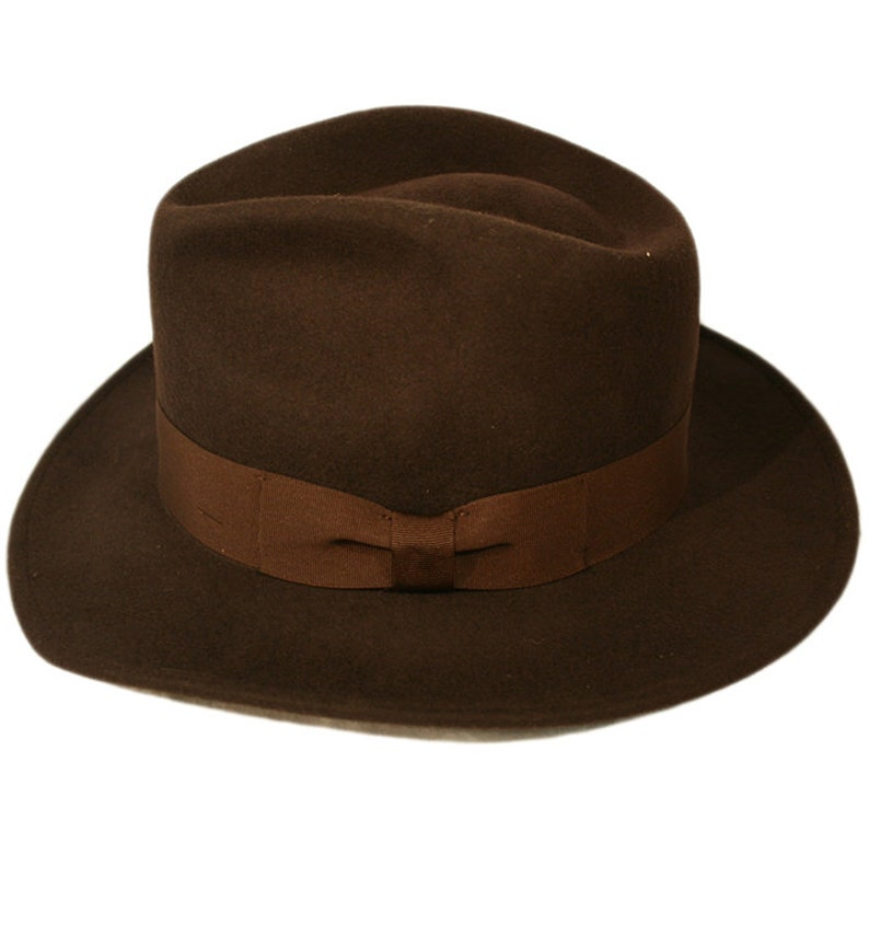 1930s Style Mens Hats and Caps Indiana Jones Style 100% Felt Cotton Fedora Hat with Ribbon Band  AT vintagedancer.com