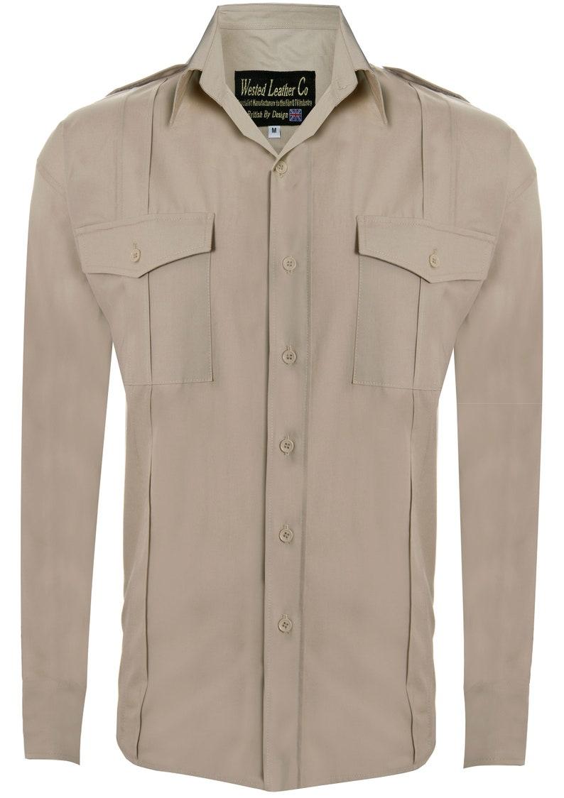 1930s Mens Shirts | Dress Shirts, Polo Shirts, Work Shirts Indiana Jones Shirt 1930s  $70.89 AT vintagedancer.com