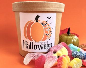 Halloween Sweets*tubs*Vegan*Gelatine Free*Pick and Mix Sweets*Halloween Gifts*Halal*