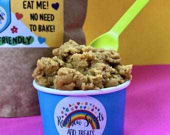 Raw Edible Cookie Dough Mix*Plain - add your own toppings*Vegan Cookie Dough*vegan Raw Cookie Dough*Vegan Christmas Gifts*