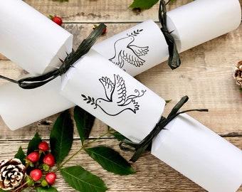 Box of 4 Beautiful eco-friendly hand made Christmas Crackers*Eco-friendly Christmas*Plastic Free Christmas Crackers*