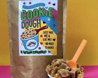 Vanilla Fudge Raw Cookie Dough mix*Edible Cookie Dough*Vegan Cookie Dough*Vegan Fudge*vegan Gifts*Vegan Christmas