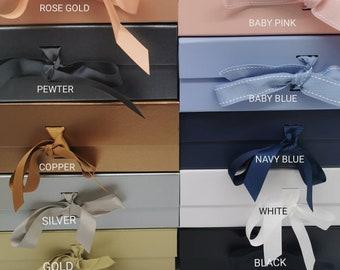 Plain/ Unpersonalised Luxury Large Gift Box, Medium Gift Box, Personalised Name Box, Birthday Box, Groomsman Box, Bridesmaid Box