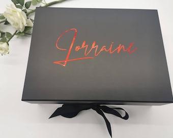 Luxury Large Gift Box, Medium Gift Box, Personalised Name Box, Birthday Box, Groomsman Box, Bridesmaid Box, Mothers Day Box
