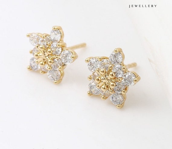 """9ct 9k Yellow /""""Gold Filled/"""" Love Ladies Multicolour Stones Stud Earrings Gift/"""""""