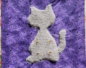 Kitten Suckling Pillow Cover- Purple's - Cat Pacifier- Catsifier