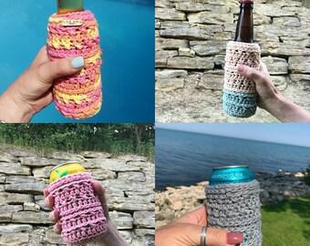 Bottle Cozy Can Cozy The Beer Hug Pattern Cozies Crochet Pattern Cozy Pattern