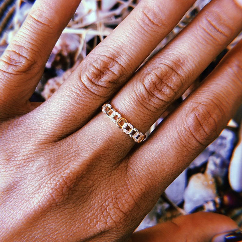 Chain Link Adjustable Ring