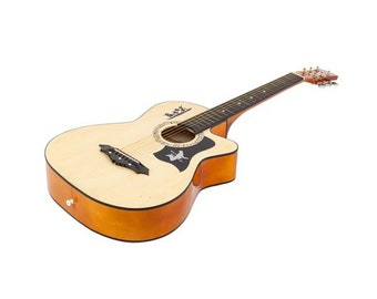 """Superb Guitar Complete with Case and Accessories - Great Gift - 38"""" Basswood Construction"""