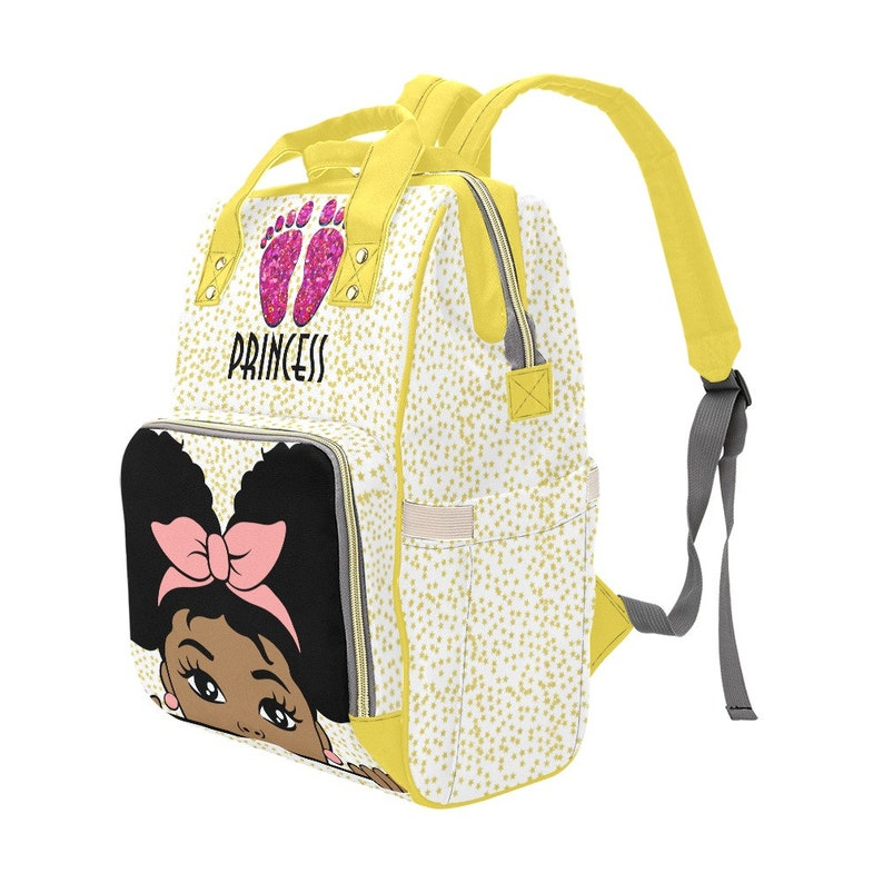 African American Baby Girl Personalized Diaper Bookpack