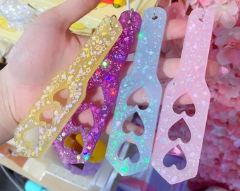 Pastel Paddle Keychain Charms