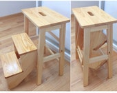 Wooden Step Stool adult, Step ladder fold, Fold chair high quality, wood bar stools, wooden high chair, wood products, elderly gift,mom gift