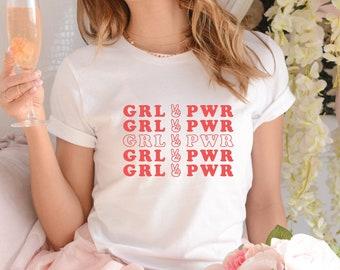 Feminist T Shirt Girl Gang Shirt Feminist Gift For Liberal Girl Power Shirt Equality Shirt Empowered Women,Feminist Tee GRL PWR Shirts