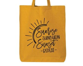 Pool Bag Teacher Tote Bag Boho Sunset Reusable Grocery Bag Shopping Bag Bohemian Bag Beach Bag Market Bag Craft Bag Boho Tote Bag