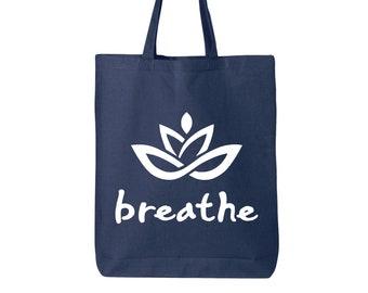 best friend gift No mud no lotus tote bag yoga gift for her yoga bag reusable bag lotus bag lotus flower bag
