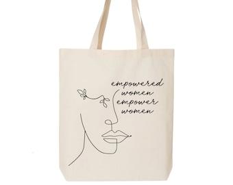 Feminist Gift - Feminist Bag GRL Power Girl Power Blue Canvas Bag Feminist Pop art Smash The Patriarchy Feminist Statement
