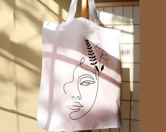 This Blue Christmas Design Tote Bag is a great reusable Grocery Bag and makes a great gift for her
