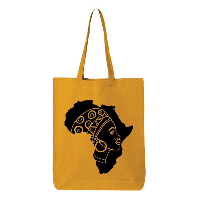 Friendly Bag Shopping Bag African Style Tote Bag Canvas Tote Bag Gifts for Her African Style Farmers Tote Bag Africa Map Fashion