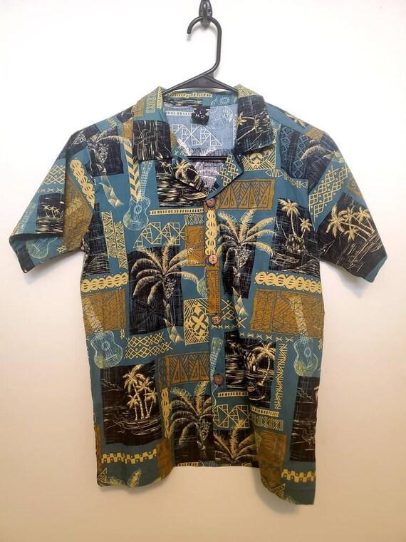 Boys Hawaiian shirts size Medium/12 button down sh