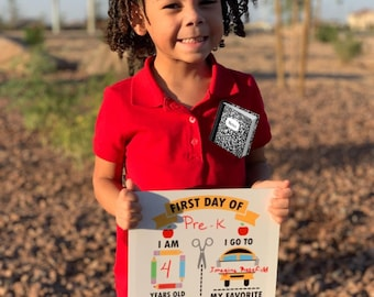 First Day of School Sign, Dry Erase First Day of School Sign, First Day of School Prop, Back to School Sign, Dry Erase Sign