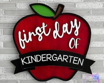 First Day of School Sign, Last Day of School Sign, First Day of School Prop, Back to School Sign, Interchangeable School Sign, School Apple
