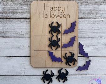Halloween Wood TicTacToe, Halloween games, wood games, kids games, trick or treat