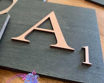3D Letter Wall Art - Initial Wall Art - Alphabet Tile - Letter Tile - Letter Tile Art - Initial Decor - Personalized Wall Art - 5x5 Inches
