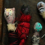Misery Dolls, set of 10 teeny tiny handmade dolls filled with gloom OOAK
