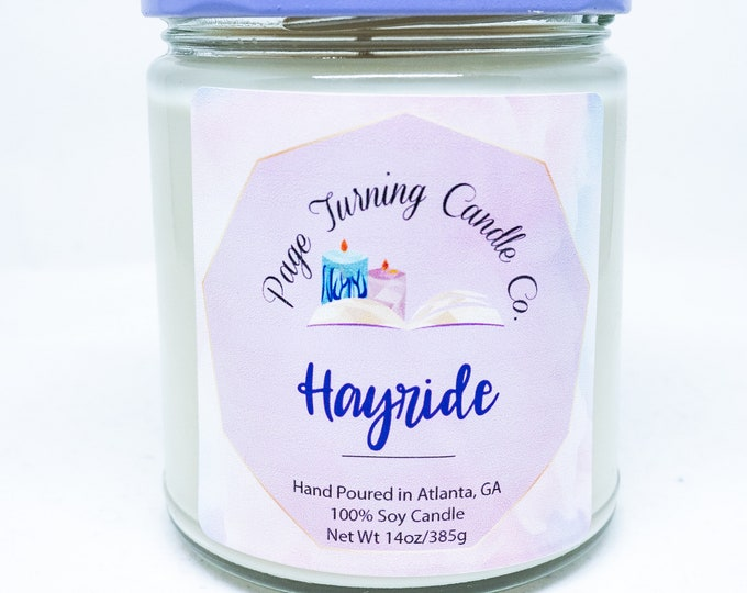 Hayride 8oz Candle ** 100% Soy ** Handemade ** Hand Poured