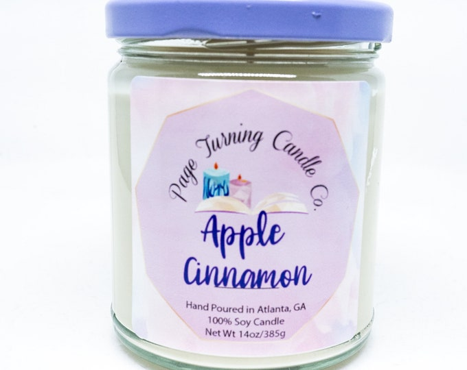 Apple Cinnamon 8oz Candle ** 100% Soy ** Handmade ** Hand Poured