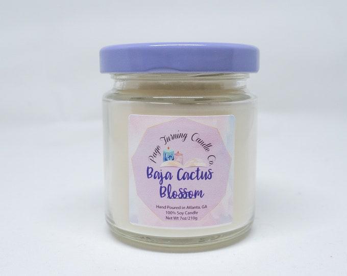 Baja Cactus Blossom 4oz ** 100% Soy ** Handmade ** Hand Poured