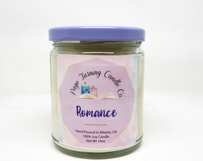 Romance 8oz ** 100% Soy Candle ** Handmade ** Hand Poured ** Amber Romance