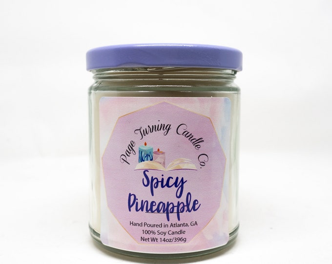 Spicy Pineapple 8oz Candle ** 100% Soy ** Handmade ** Hand Poured