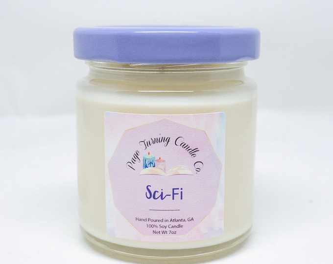 Sci-Fi 4oz ** 100% Soy ** Hand Made ** Hand Poured Candle
