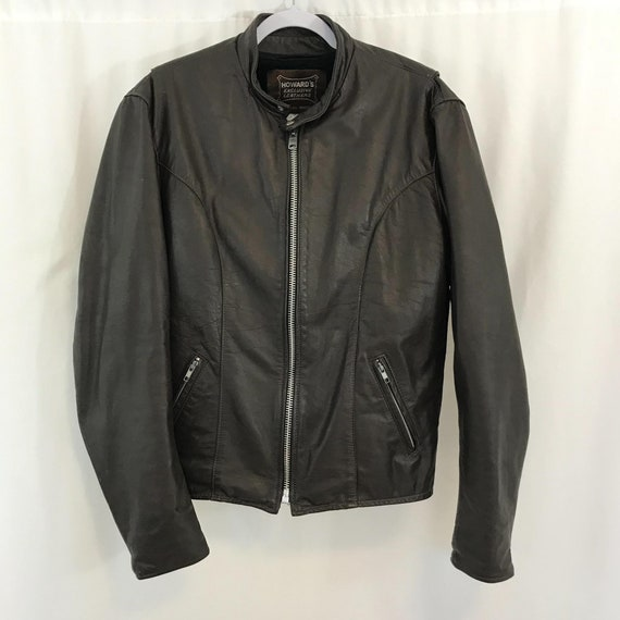 VTG Howard's Exclusive Leather Coat Jacket Bomber