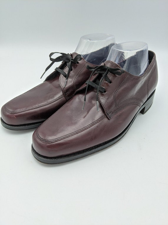 Florsheim Oxfords Shoes Lace Up Leather Burgundy S